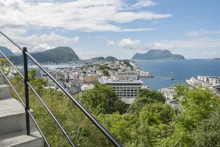 Climbing 418 steps at Aksla viewing Alesund