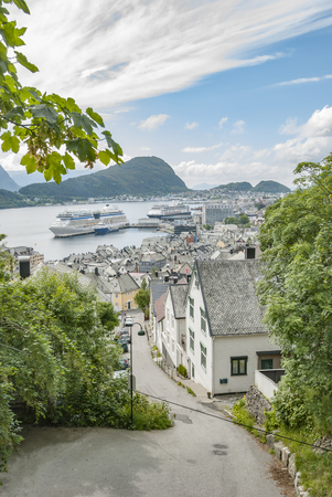 Alesund city view from above