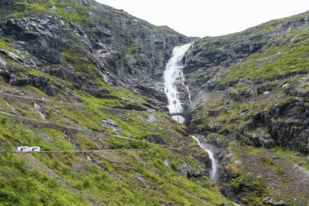 switchback: Switchback road Trollstigen in Norway