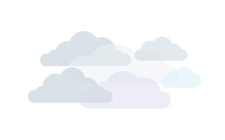 Clouds in shades of grey, vector Иллюстрация