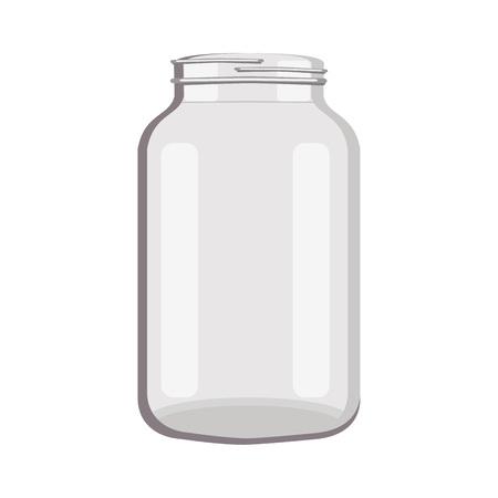 Object glass jar empty, vector