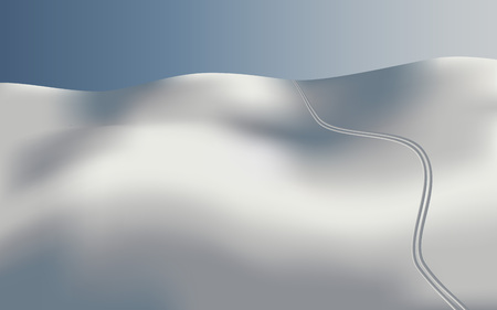 Background landscape skiing in snow, vector Ilustrace