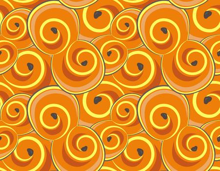 원활한 패턴 모든 사프란 buns, 벡터 일러스트 레이 션.