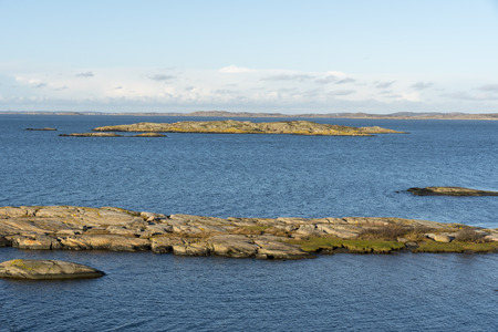 Coastal landscape at west coast of Sweden Stok Fotoğraf
