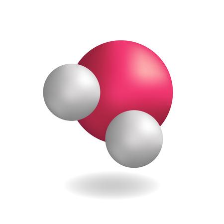 Molecule water H2O symbol, vector Stock Illustratie