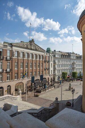 Old buildings in Helsingborg in Sweden 写真素材