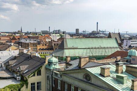 Roof tops in Helsingborg in Sweden 写真素材