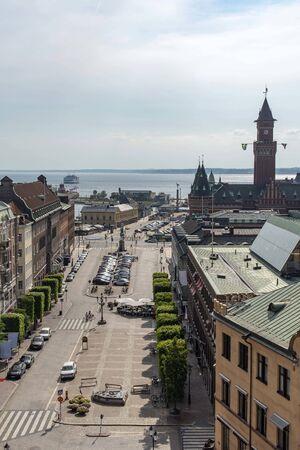 Stortorget in Helsingborg in south of Sweden