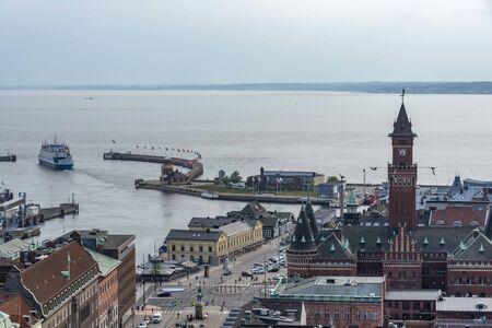 Coastal town Helsingborg in Sweden 写真素材