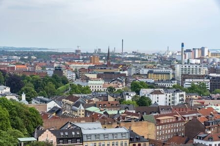Helsingborg from above view 写真素材