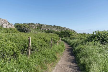 Path at Kullaberg nature reserve in Sweden