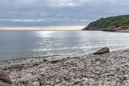 Stone beach at Molle in Sweden