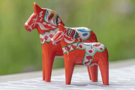 Traditional painted horses in Sweden
