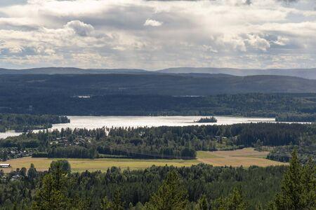 Scandinavian landscape in summer 写真素材