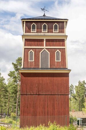 Historic building at Sala silver mine in Sweden