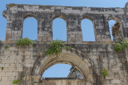 Old roman palace in Split in Croatia 報道画像