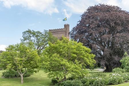 Karnan tower in park in Helsingborg Sweden 報道画像