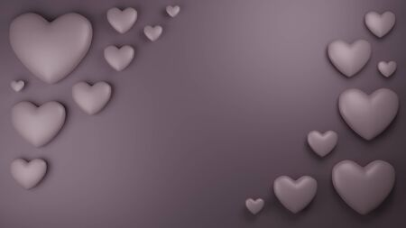 Pink hearts background 3D render Stock Photo