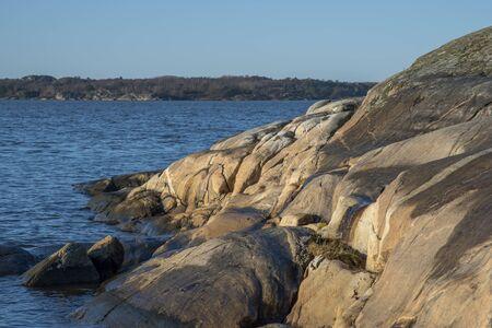 Soft rock surface in Sillvik in Gothenburg in Sweden in winter