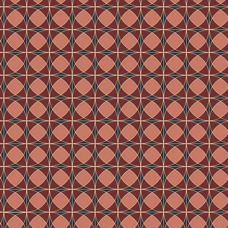 Seamless pattern geometric pattern circle, vector