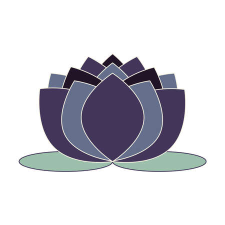 Purple water lily vector symbol Ilustracja