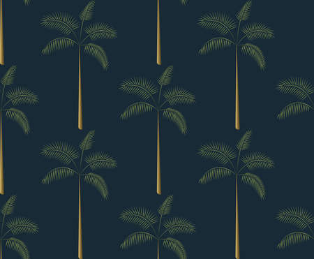 Seamless pattern palm tree tropical vector