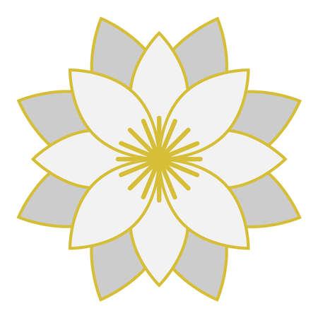 White lotus vector symbol