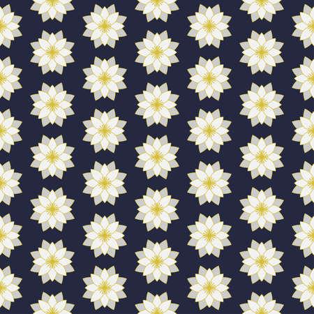 Seamless pattern white lotus vector