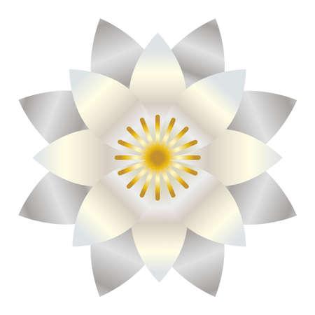 White lotus shiny vector symbol