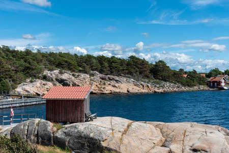 Reso island in Sweden in summer