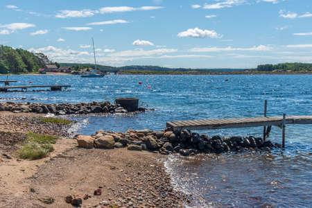 Sunny beach at island Galto in Sweden