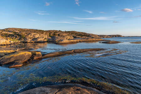 Stone shore at Orust in Sweden