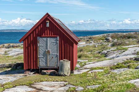 Old red building at Maseskar in Sweden