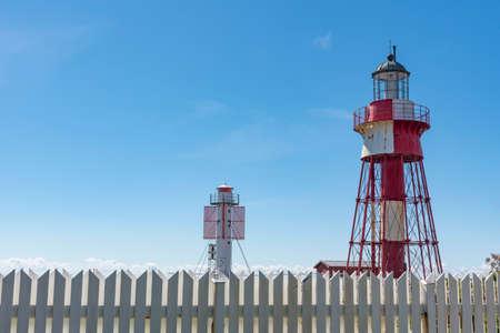 Old and new lighthouse at Maseskar in Sweden Reklamní fotografie