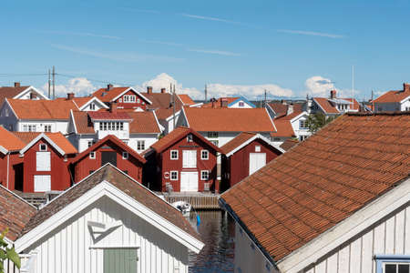 Rooftops at Gullhomen in Sweden