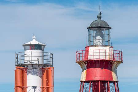 Modern and historic lighthouse at Maseskar in Sweden Reklamní fotografie