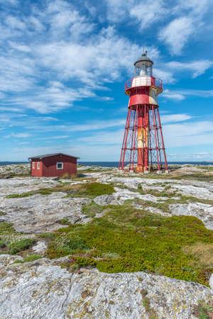 Old lighthouse at Maseskar island in Sweden Reklamní fotografie