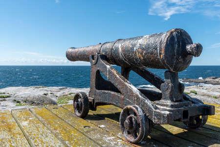 Old cannon at Maseskar in Sweden