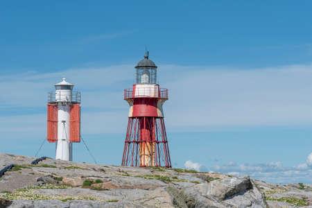 Two lighthouses at Maseskar in Sweden