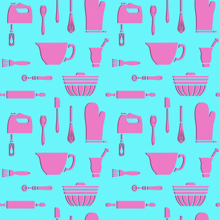 Seamless pattern baking supplies with 3D effect