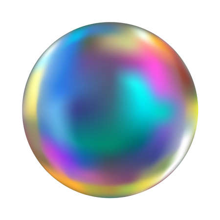Soap bubble isolated vector Ilustracja