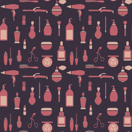 Seamless pattern graphic beauty supplies