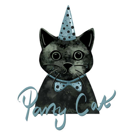 Party cat animal painted vector
