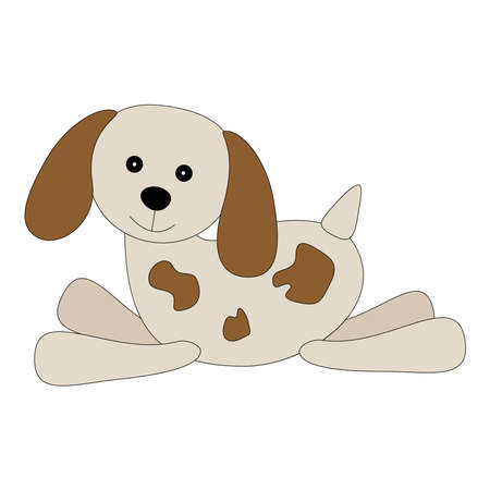Cute cartoon running dog