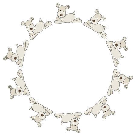 Frame of fox terrier cartoon dogs