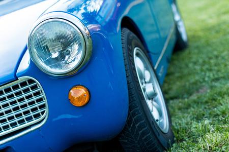 grille: vintage car detail - headlamp grille