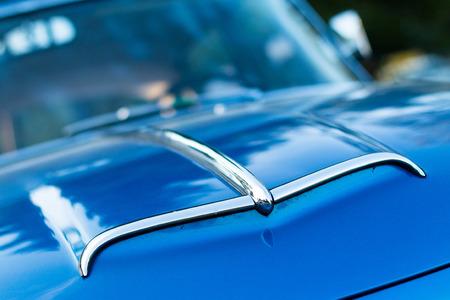 intake: vintage car detail - bonnet air intake