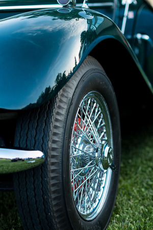 classic: vintage car detail - wheel wing