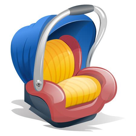 transporteur: Bleu, Rose et jaune Baby Carrier, avec poign�e Illustration