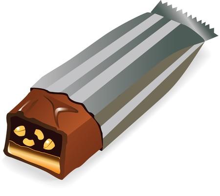 チョコレート、キャラメルとピーナッツの棒キャンディ